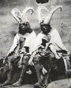 Two priests of the Two Horn Society (Hopi);The...