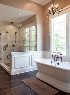 Cool 41 Amazing Elegant Master Bathroom Decorating Ideas http://toparchitecture.net/2017/09/21/amazing-elegant-master-bathroom-decorating-ideas/