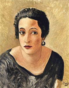 """""""André Derain (Fr. 1880-1954) Portrait de Madame Francis Carco (ca 1923) 43 x 35 cm """""""