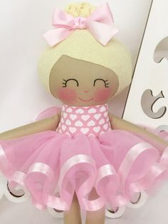 Ballerina Doll Fabric Dolls Cloth Baby Doll by SewManyPretties