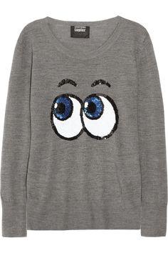Markus Lupfer|Pop Eyes sequined merino wool sweater— $425 worth of fun