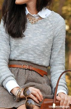 Grey Smooth knit Sweater