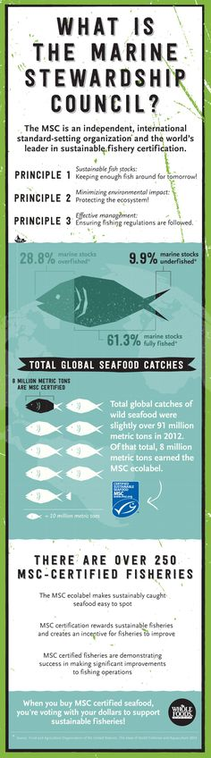 What is the Marine Stewardship Council? It's an independent, international standard-setting organization and the world's leader in sustainable fishery certification.  They basically tell you everything you need to know about the seafood you love to eat.