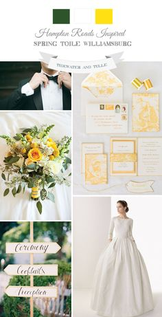 Classic Spring Green and Yellow Wedding Inspiration