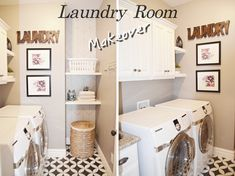 A laundry room makeover that all started with a sharpie. How to makeover a laundry room on a budget