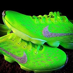 #custom #diy #Swarovski #crystals #Nike #shoes #bedazzle #bling #neon #yellow #green #lovemynewshoes #patience #finally #complete #Nordstrom   Content shared via nordstrom Inspiration Gallery