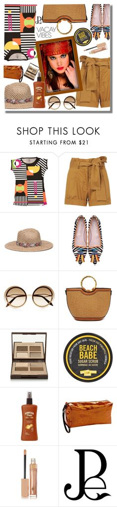 """""""Vacay Outfit"""" by pesanjsp ❤ liked on Polyvore featuring Silvia Tcherassi, Genie by Eugenia Kim, Victoria Beckham, Charlotte Tilbury, Forever 21, Hawaiian Tropic, Clava, BeachPlease and vacayoutfit"""