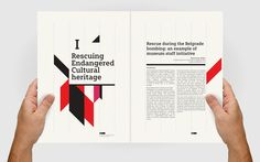 #Iccrom Editorial Design#8 Bis Agency#Geometrical