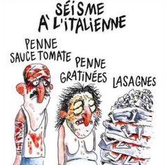 Charlie Hebdo #Italy earthquake #cartoon sparks anger