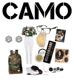 """""""camouflage never looked so chic"""" by goddessjackson on Polyvore featuring Topshop, Dolce&Gabbana, MAKE UP FOR EVER, Forever 21, Herschel Supply Co., Breda, Vivienne Westwood and Vince Camuto"""
