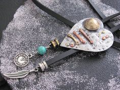 Regylar Price $49.56       10% 0ff  Current Price $44.60  Bolo tie vintage heart. Handcrafted.Metal Copper, Brass, stainless steel, Author's work.New design for women and m...