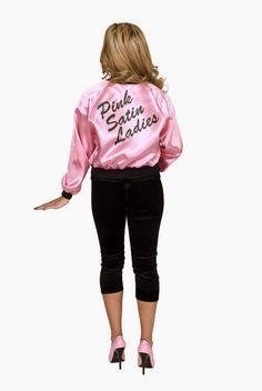 729624980c4 Party Costume Pink Satin Ladies Jacket Adult Standard Plus Scarf (L