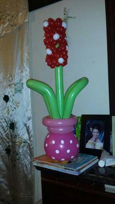 flores con globos
