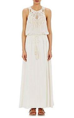 Miro Fringe Dress by Ulla Johnson. 100% Cotton Gauze. Made in India.