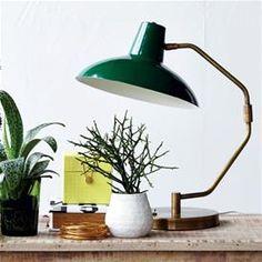 Bordlampe - Desk - Mat grøn - Ø:31 cm