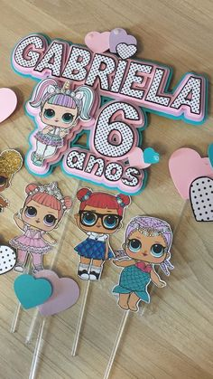 Funny Birthday Cakes, 6th Birthday Parties, 4th Birthday, Lol Doll Cake, Doll Party, Party Kit, Lol Dolls, Birthday Decorations, Cake Toppers