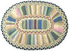 Cornfields Handmade Knitted and Braided Rug