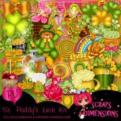 SCRAPS DIMENSIONS: FTU ST. PADDY'S LUCK KIT July 11, On October 3rd, Tag Templates, Skull Wallpaper, Kit, Halloween, Scrapbooking, Crafts, Digital