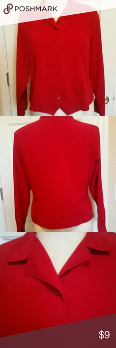 "Laura Scott striking Holiday blouse SALE! Real color!RICH"" dark cherry red""(pic looks differet) Fabulous soft material , feels like a very very light  faux suede100%polyester  Bust 47 top sleeve opening 18 hip 46  shoulder to hip 44 so pretty! Laura Scott Tops Blouses"