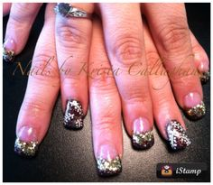 Acrylic Nails, Fall Nail Art Sugar N Spice Salon Butte, MT 59701 406-782-0000