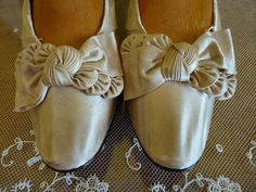 Bridal Shoes, Victorian Shoes, Antique Shoes, Wedding, antike Schuhe, Frankfurt on the Main, ca. 1888