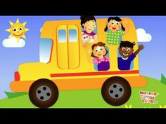 Wheels On the Bus - Mother Goose Club nursery rhyme! Over 90+ videos on our youtube channel check them out at http://www.youtube.com/user/SockeyeMedia?feature=mhee #preschool #ESL #nurseryrhymes #education