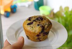 Whole Wheat Blueberry-Zucchini Muffins
