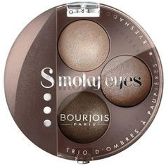 Bourjois Smoky Eyes Trio (15 AUD) ❤ liked on Polyvore featuring beauty products, makeup, eye makeup, eyeshadow, bourjois eyeshadow and bourjois