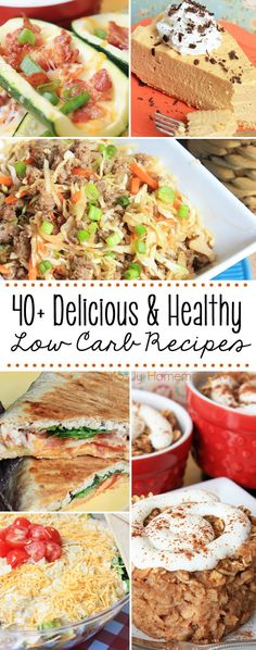 All of my favorite healthy low carb dinners and desserts in one post - perfect for families!