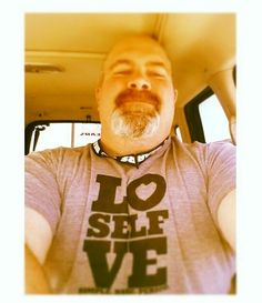 My #man is just too cute for words! He wore is #selflovesimplebasicperiod #tshirt to work today and then takes his first #selfie ever!!!!! Seriously!! #adorable #hot #cute#boyfriend #love #selflove #perfecttee #unisex #americanapparel #vintage #soft #comfy #yum We carry S-XXL in athletic #blue and athletic #grey #triblend {50% poly 25% cotton 25% rayon} #selfloverevolution #loverevolution www.selflovebliss.com