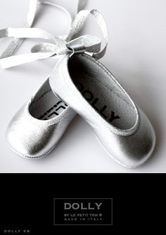 DOLLY by Le Petit Tom ® BABY BALLERINA'S 5B silver