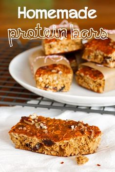 Homemade Pumpkin Cranberry Pecan Protein Bars