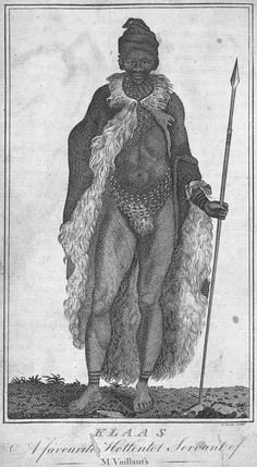 Klaas, A favourite Hottentot Servant of M. Vaillant's. From New York Public Library Digital Collections.