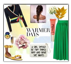 """""""Warmer Days"""" by rasheeda-moore ❤ liked on Polyvore featuring RED Valentino, Diane Von Furstenberg, Alaïa, Talbots, Too Faced Cosmetics, contest, contestentry, springdresses and PopsOfYellow"""