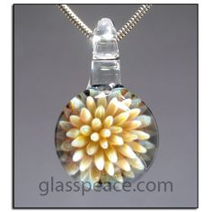 Glass Pendant Sea Anemone Necklace focal by Glass Peace $45.00