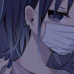 Cute Profile Pictures, Gothic Anime, Girls Cartoon Art, Dark Anime, Cute Anime Character, Anime Expressions, Blue Anime, Anime Artwork, Aesthetic Anime