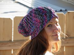 Hey, I found this really awesome Etsy listing at https://www.etsy.com/listing/264429102/hand-loom-knit-beanie-multi-jeweltoned
