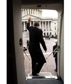 """Pete Souza on Instagram: """"President Obama waves from the steps of Executive One helicopter following the inauguration of Donald Trump at the U.S. Capitol."""""""