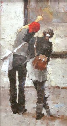 On the street. Andre Kohn - painting, period I.