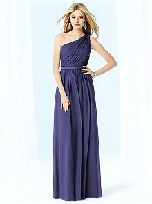 some kind of blue or purple, long or short, vintage feeling, with a strap, bridesmaids dresses @fitztine