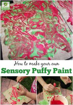 Create your own homemade puffy paint for sensory and creative play using this easy recipe. Simply paint then watch as it puffs up! - The Empowered Educator Sensory Activities Toddlers, Infant Activities, Sensory Play, Activities For Kids, Sensory Table, Sensory Bins, Motor Activities, Christmas Activities, Christmas Crafts