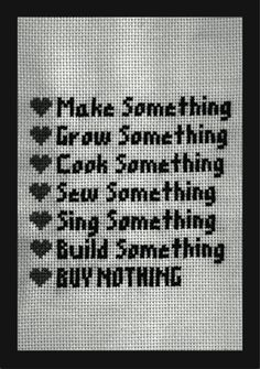 a page from Crafti-ZINE Edition 01  made by The Wellington Craftivism Collective. My motto for life.