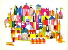 more Mary Blair. i like the more organic-but-still-geometric, handmade feel to this illustration.
