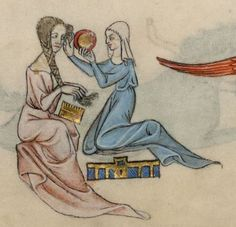Detail from The Luttrell Psalter, British Library Add MS 42130 (medieval manuscript,1325-1340), f63r