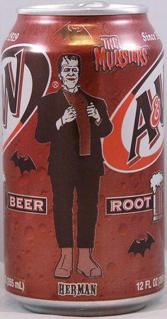 aw root beer herman munster halloween 2000 can - Munsters Halloween Episode