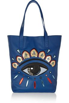 KENZO Eye-embellished leather tote | NET-A-PORTER