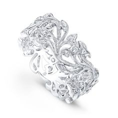 Beverly K Tree of Life Diamond Band #justicejewelers #beverlyk