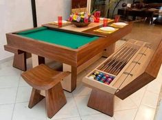 Dining Pool Wooden Table