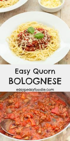 Easy Quorn Bolognese - Vegetarian recipesQuorn Mince is a midweek meal lifesaver! Keep a bag stashed in the freezer for emergencies and you can have this Easy Quorn Bolognese on the table in just 20 minutes! Quorn Recipes, Mince Recipes, Healthy Recipes, Veggie Recipes, Healthy Cooking, Vegetarian Recipes, Cooking Recipes, Quorn Meals, Veggie Meals