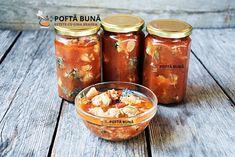 Conserva de peste in sos tomat, reteta pentru iarna Canning Pickles, Romanian Food, Romanian Recipes, Preserving Food, Celery, Preserves, Carne, Seafood, Food And Drink